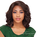 Sensationnel Synthetic Hair Empress Natural Curved Part Lace Front Wig - CRYSTAL (futura)