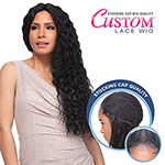 Sensationnel Stocking Cap Quality Custom Lace Wig - FRENCH WAVE (Hand-Tied Part w/ Multiple Parting Option)