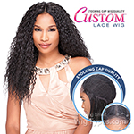 Sensationnel Stocking Cap Quality Custom Lace Wig - WET CURLY (Hand-Tied Part w/ Multiple Parting Option)