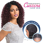Sensationnel Stocking Cap Quality Custom Lace Wig - DEEP WAVE (Hand-Tied Part W/ Multiple Parting Option)