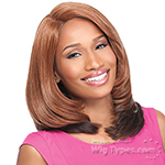 Sensationnel Synthetic Hair Empress Natural Curved Part Lace Front Wig - MADISON (futura)