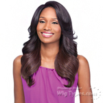 Sensationnel Synthetic Hair Empress Natural Curved Part Lace Front Wig - SHASHA (futura)