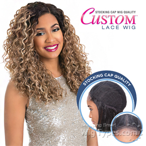Sensationnel Stocking Cap Quality Custom Lace Wig - BLISS CURL (Hand-Tied Part W/ Multiple Parting Option)