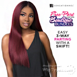 Sensationnel Synthetic Hair Empress 3 Way Free Part Lace Wig - BOUTIQUE KINKY STRAIGHT (futura)