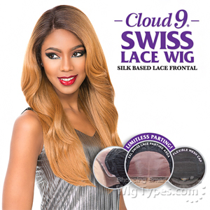 Sensationnel Human Hair Blend Cloud 9 Silk Based Swiss Lace Frontal Wig - CATHERINE (futura)