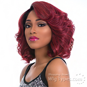 Sensationnel Synthetic Hair Empress Natural Curved Part Lace Front Wig - CHERRY (futura)