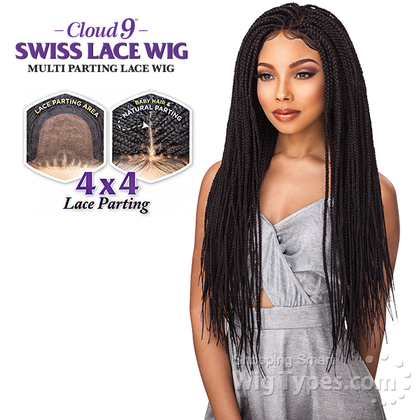 Sensationnel Cloud 9 Synthetic Hair 4x4 Multi Parting Swiss Lace Wig Box Braid Small Wigtypes Com