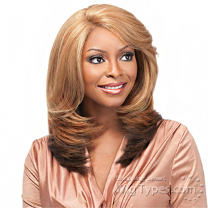 Sensationnel Synthetic Hair Empress Natural Curved Part Lace Front Wig - GOLDIE (futura)
