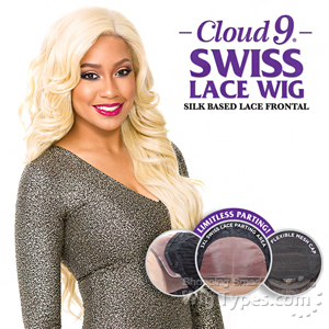 Sensationnel Cloud 9 Human Hair Blend Silk Based Swiss Lace Frontal Wig - ISABELLA (futura)