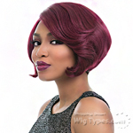 Sensationnel Synthetic Hair Empress Natural Curved Part Lace Front Wig - JAZ (futura)