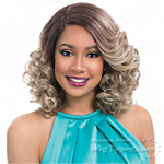 Sensationnel Synthetic Hair Empress Natural Curved Part Lace Front Wig - LAWANDA (futura)