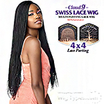 Sensationnel Cloud 9 Synthetic Hair 4x4 Lace Parting Swiss Lace Wig - MICRO BOX BRAID 28