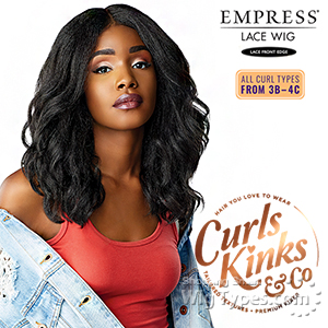 Sensationnel Curls Kinks & Co Synthetic Hair Empress Lace Front Wig - BORN STUNNA