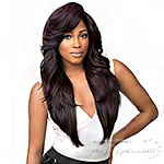 Sensationnel Synthetic Hair Empress Feather & Flare Deep Curved Part Lace Front Wig - TONI