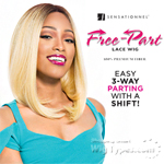 Sensationnel Synthetic Hair Empress 3 Way Free Part Lace Wig - TULIP (futura)