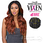 Sensationnel Synthetic Hair Cloud 9 Vixen Multi Part Swiss Lace Wig - LOOSE WAVE 24 (4way multi parting lace)