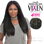 Sensationnel Synthetic Hair Cloud 9 Vixen Multi Part Swiss Lace Wig - YAKI 24 (4way multi parting lace)