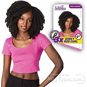 Sensationnel Lulutress Synthetic Braid - 3X KINKY ROD CURL 9