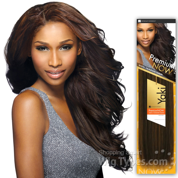 Sensationnel Premium Now 100 Human Hair Weave New Yaki Platinum