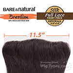 Sensationnel 100% Virgin Remi Bundle Hair Bare & Natural Lace Closure - SILK FULL LACE COVERALL FRONT 13.5 X 3.5 WAVY 12