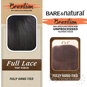 Sensationnel 100% Virgin Remi Bundle Hair Bare & Natural - SILK FULL LACE TOP 4 X 4 STRAIGHT 12