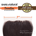 Sensationnel 100% Virgin Remi Bundle Hair Bare & Natural Lace Closure - SILK FULL LACE TOP 3 PART 7 X 4 STRAIGHT 12