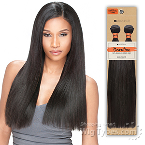 Sensationnel 100% Unprocessed Brazilian Virgin Remy Human Hair - NATURAL YAKI STRAIGHT 10