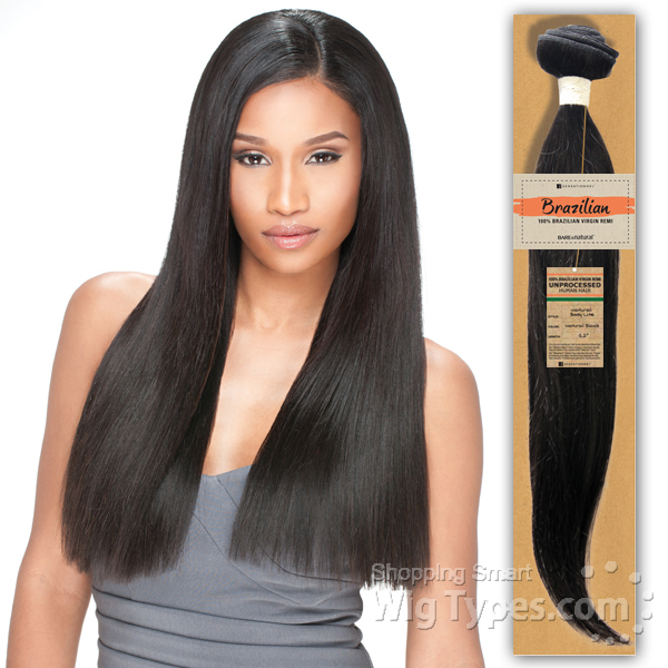 Sensationnel Unprocessed Brazilian Virgin Remy Human Hair Weave Bare & Natural Natural Yaki 82