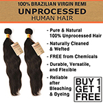 Sensationnel 100% Unprocessed Human Hair - Natural Wavy (Buy 1 Get 1 FREE)