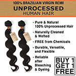 Sensationnel 100% Unprocessed Human Hair - Natural Body (Buy 1 Get 1 FREE)