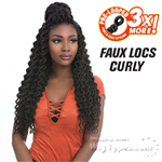 Sensationnel Synthetic Braid - 3X FAUX LOCS CURLY 18 (triple pack value)