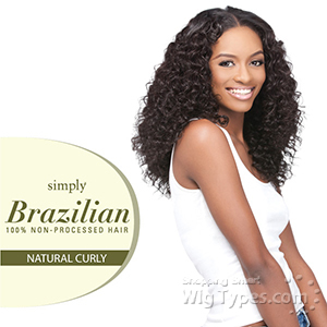 Outre Simply 100% Non-processed Brazilian Virgin Remy Human Hair Weave - NATURAL CURLY 18