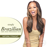 Outre Simply 100% Non-processed Brazilian Virgin Remy Human Hair Weave - NATURAL STRAIGHT 18
