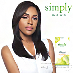 Outre Simply 100% Non-processed Brazilian Virgin Remy Human Hair Half Wig - NATURAL STRAIGHT