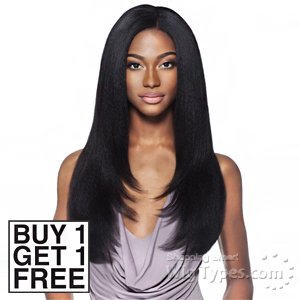 Outre Simply 100% Non-processed Brazilian Virgin Remy Human Hair Weave - BLOW OUT STRAIGHT 12 (Buy 1 Get 1 FREE)