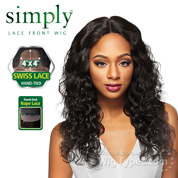 Outre Simply 100 Non Processed Brazilian Virgin Remy Human Hair Swiss Lace Front Wig