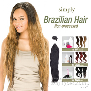 Outre Simply 100% Non-processed Brazilian Virgin Remy Human Hair Weave 18