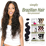 Outre Simply 100% Non-processed Brazilian Virgin Remy Human Hair Weave - BODY WAVE