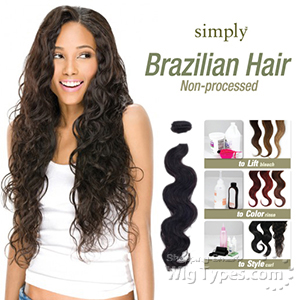 Outre Simply 100% Non-processed Brazilian Virgin Remy Human Hair Weave - BODY WAVE 16