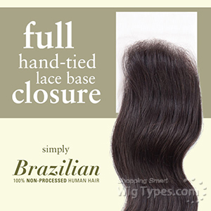 Outre Simply 100% Non-processed Brazilian Hand-tied Lace Parting - FULL LACE CLOSURE 12