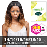 Outre Simply Perfect 7 100% Non-processed Brazilian Virgin Remy Human Hair Weave - BRAZILIAN NATURAL BODY 7PCS(14/14/16/16/18/18 + Closure)
