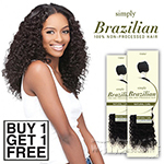 Outre Simply 100% Non-processed Brazilian Virgin Remy Human Hair Weave - NATURAL CURLY 10 (Buy 1 Get 1 FREE)