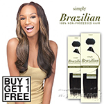 Outre Simply 100% Non-processed Brazilian Virgin Remy Human Hair Weave - NATURAL STRAIGHT 10 (Buy 1 Get 1 FREE)