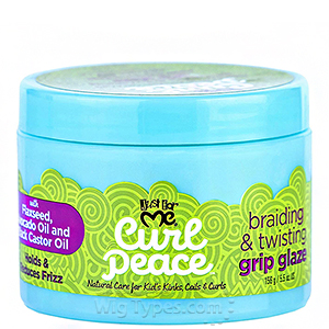 Just for Me Curl Peace Braiding & Twisting Grip Glaze 5.5oz