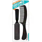 "Stella Collection #2443AST 8"" Brush & 7"" Styling Comb Compact Set"