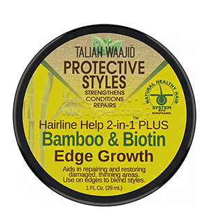 Taliah Waajid Protective Styles Hairline Help 2-in-1 Plus Bamboo & Biotin Edge Growth 1oz