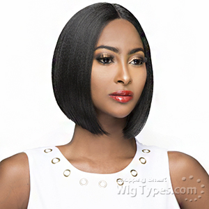 The Wig Brazilian Human Hair Blend Lace Front Wig - LH BUBBLE