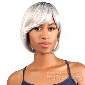 The Wig Brazilian Human Hair Blend Wig - HH BOB (SILVER COLOR)