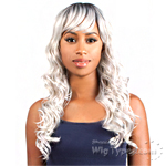 The Wig Brazilian Human Hair Blend Wig - HH CLARA (SILVER COLOR)