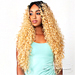 The Wig Brazilian Human Hair Blend Lace Front Wig - HH PERUVIAN